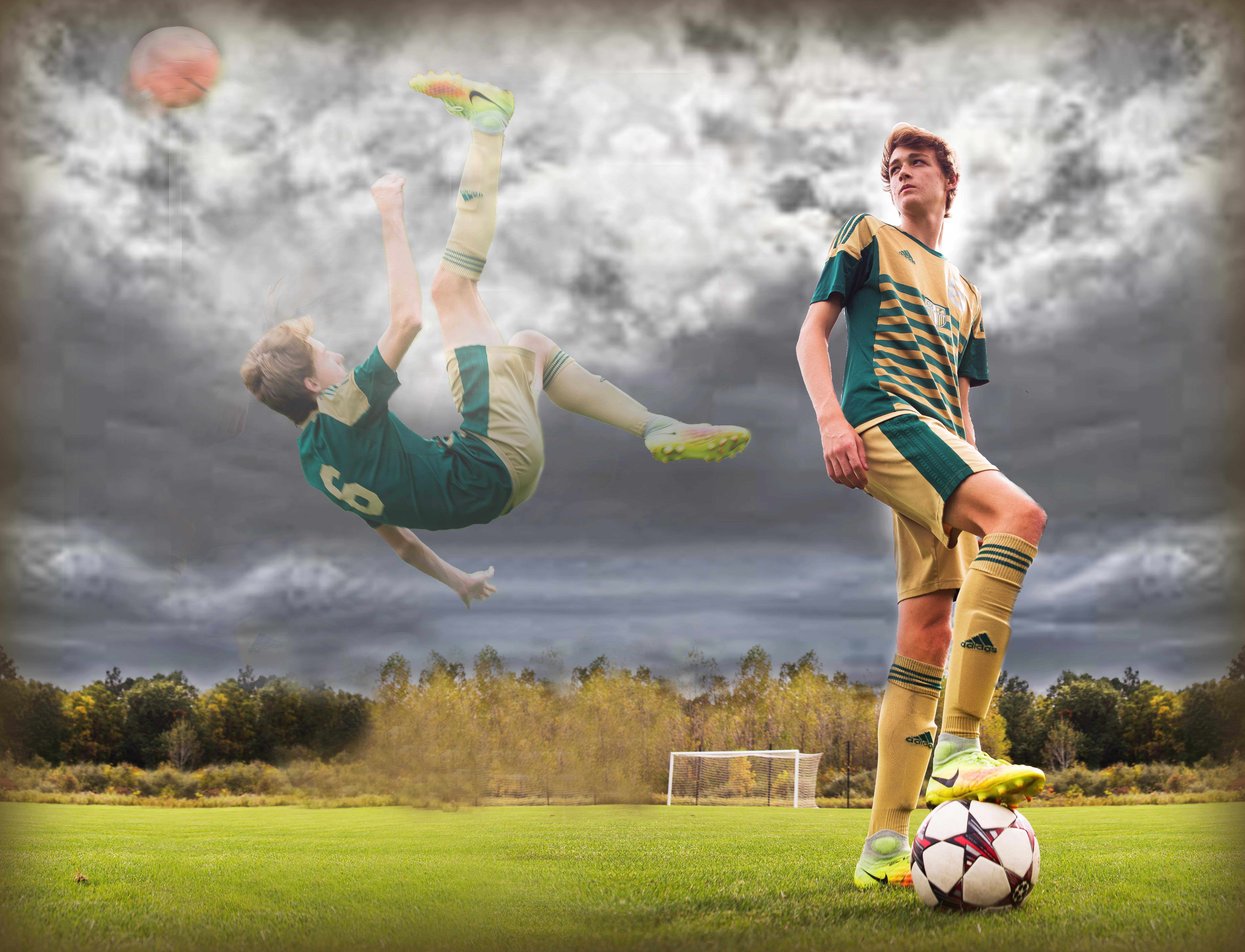 Soccer sky
