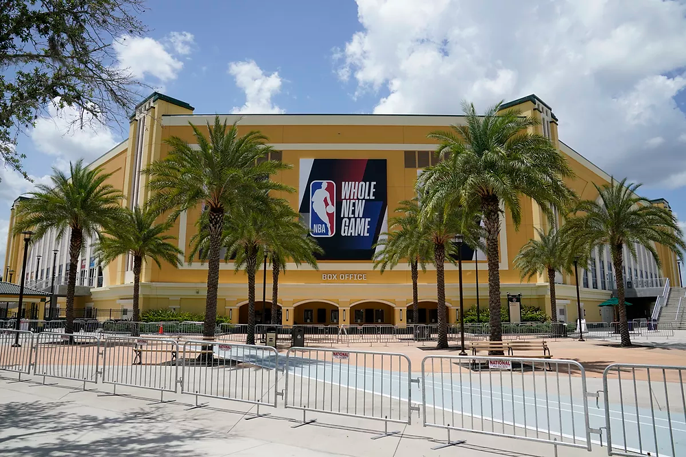 One of the arenas in the NBA playoff bubble at Walt Disney World Resort in Orlando, Florida.