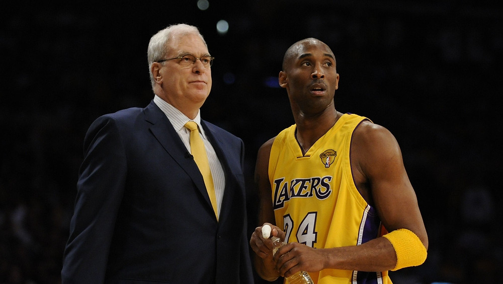 Phil Jackson and Kobe Bryant of the Los Angeles Lakers won five championships together.
