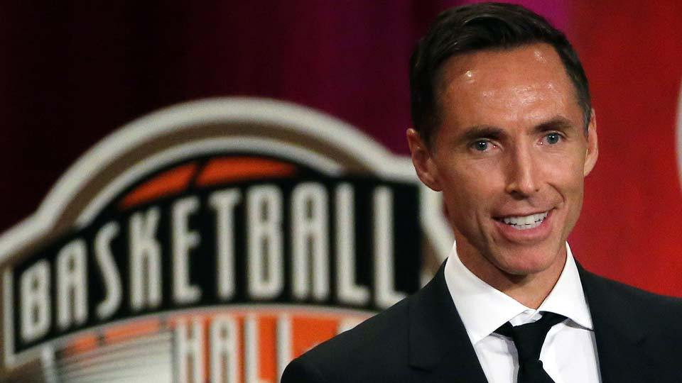 Steve Nash is inducted into the Basketball Hall of Fame.