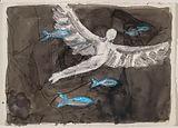 Flight, 10x14, mixed media on paper, 201
