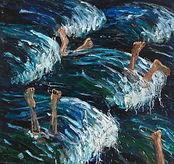 2. Sea Legs, 84x78, oil on canvas, 2018.