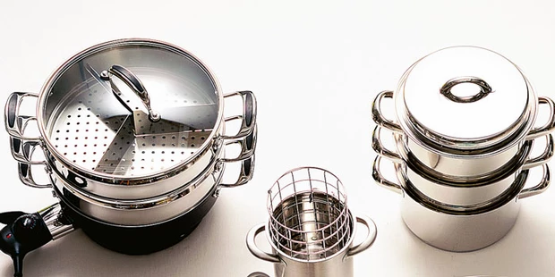 Selection of steamers. Photo: bbsgoodfood.com