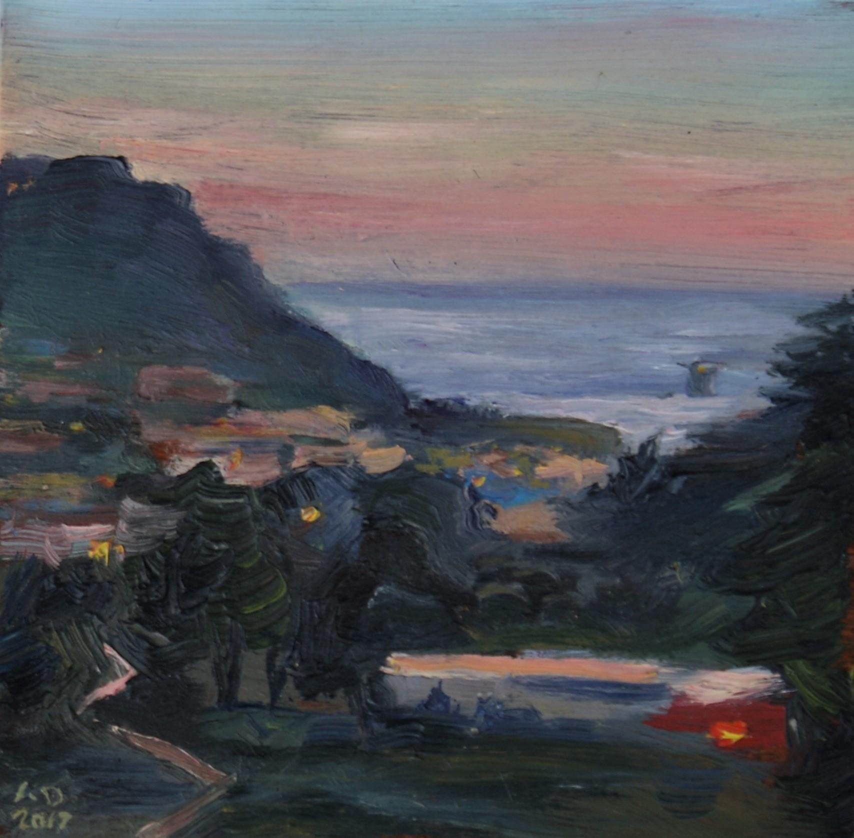 Sunset on Presidio Hill