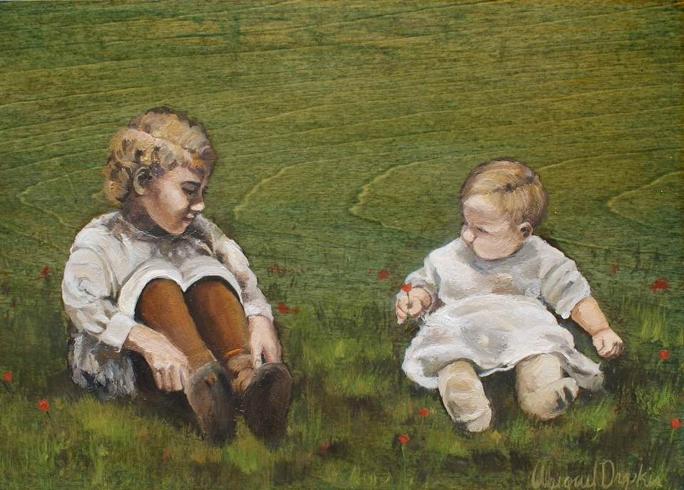 Abigail Drapkin vintage Contemporary paintings
