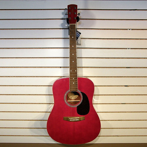 Corbin Acoustic Dreadnaught Guitar in Trans Red