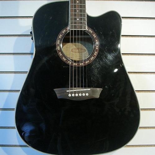Washburn D 10 Acoustic/Electric Black Fishman EQ