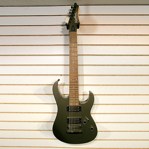 W 587 7 string guitar in grey metallic