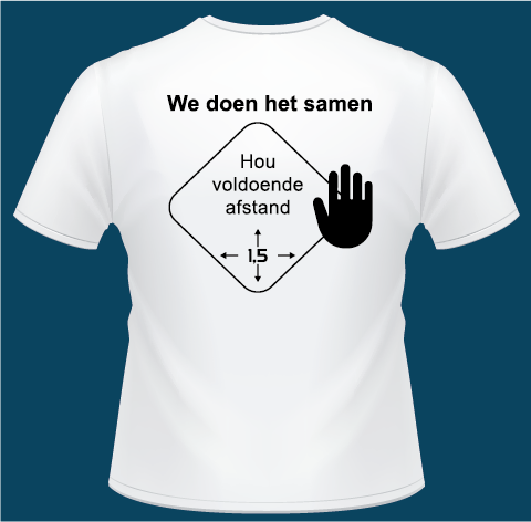 Houd afstand T-shirts