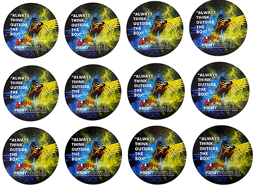 Full color stickers rond