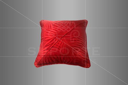 Almofada Vermelha em Jacquard 0,40 x 0,40