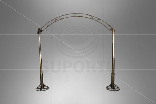 Arco Metálico Bronze Escuro 3,41 larg. x 2,96 alt.