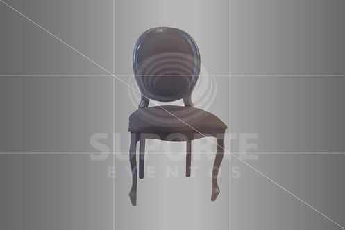 Cadeira Medalhão Preta Assento e Encosto Jacquard Preto