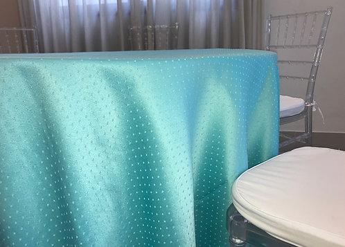 Toalha Jacquard Póa Azul Tiffany com 2,80 de Diâmetro
