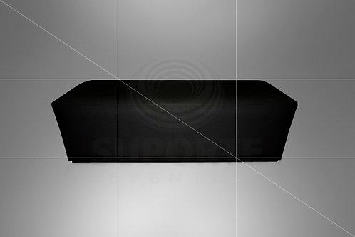 Puff Preto C/ Capa Acolchoada 1,60 x 0,60