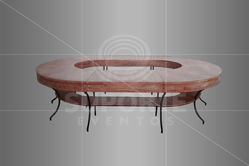 Mesa Sophia Oval (3,25 de diâmetro) ou Redonda (2,20 de diâmetro)