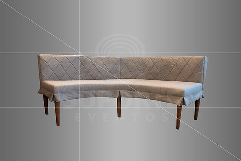 Sofá Niemeyer Industrial 2,60 x 0,85 (Palha ou Frozen)