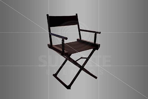 Cadeira Diretor em Madeira na Cor Preta