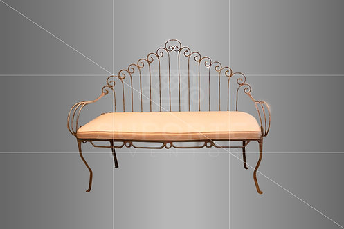Namoradeira Garden Lírio com Assento Bege 1,40 x 0,60 (Opcional o Uso do Arco)