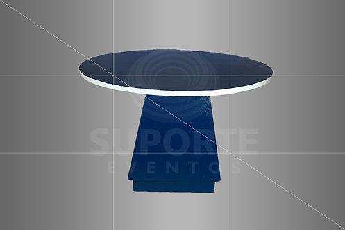 Mesa Azul com Tampo Craquelado Modelo Green (Diâmetros: 1,00 ou 1,19)