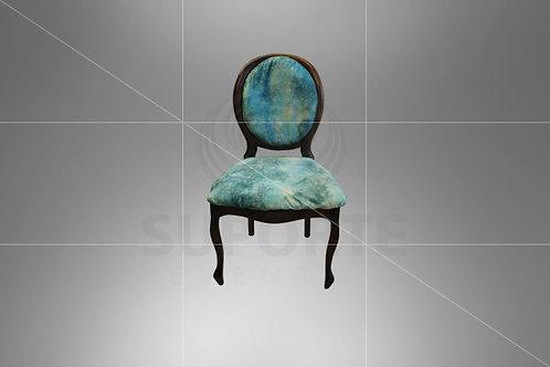 Cadeira Medalhão Tabaco Assento e Encosto Tiffany Matizada