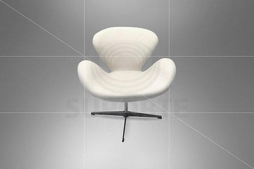 Poltrona Giratória Swan Branca Perolada 0,78 x 0,62