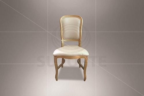 Cadeira Luis Felipe Dourada com Encosto em Tecido