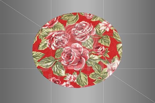 Sousplat Parise Vermelho Floral 0,32 de diâmetro