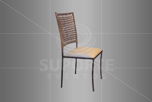 Cadeira Vime Met. Bronze Escuro