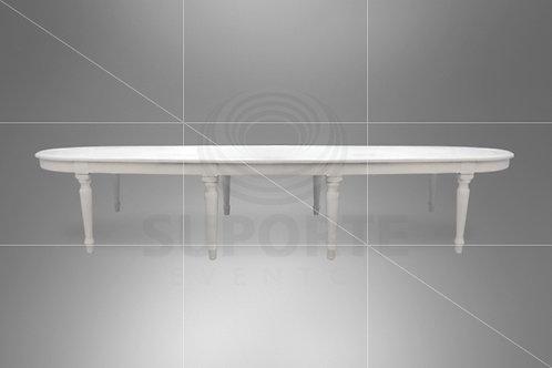 Mesa Branca Charllot (Tamanhos: 4,0 x 1,10 e 3,0 x 1,10)