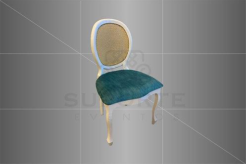 Cadeira Medalhão Branca Assento Tiffany Liso