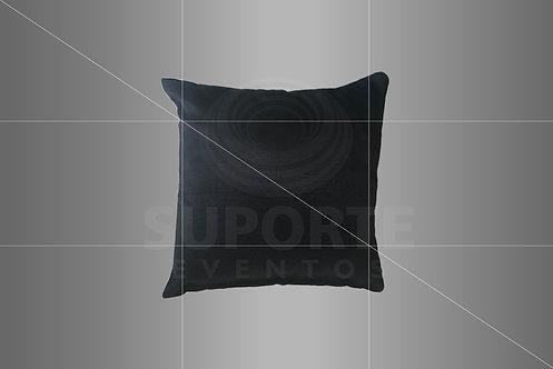 Almofada Preta (Tamanhos: 0,40 x 0,40 ou 0,30 x 0,30)