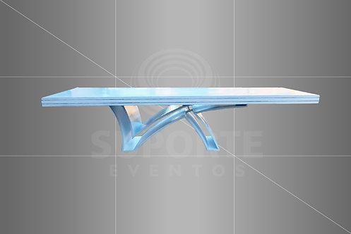 Mesa Branca (Mod. 1550) c/ LED 3,00 x 1,00 ou 6,00 x 1,00