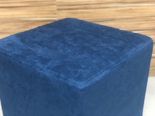 Puff Azul Petróleo 0,50 x 0,50 c/ Capa