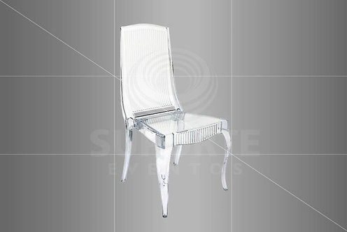 Cadeira Prada Cristal (Assento Branco ou Preto)