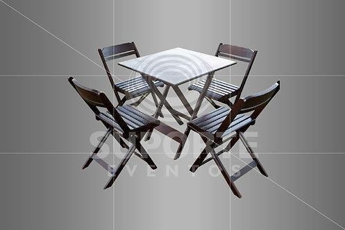 Conjunto de Mesa e Cadeiras Buteco