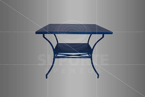 Mesa Azul com Tampo Craquelado 1,00 x 1,00 Modelo Green