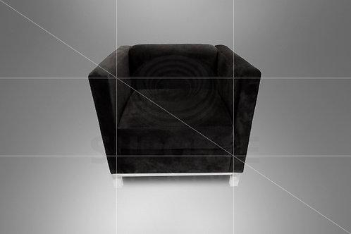 Poltrona Domênica Preta Aveludada 0,80 x 0,70
