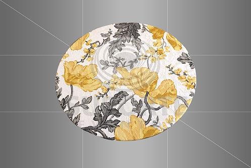 Sousplat Parise Amarelo Floral 0,32 de diâmetro