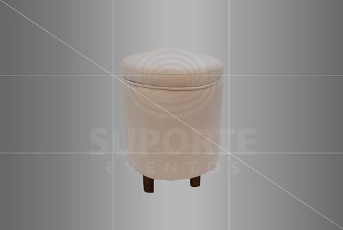 Puff Charme Branco 0,40 de diâmetro