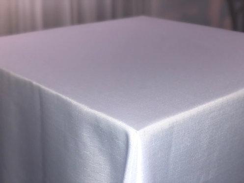 Toalha Ráfia Branca para Mesa de 0,80 x 0,80 (medida da toalha: 2,35 x 2,35)
