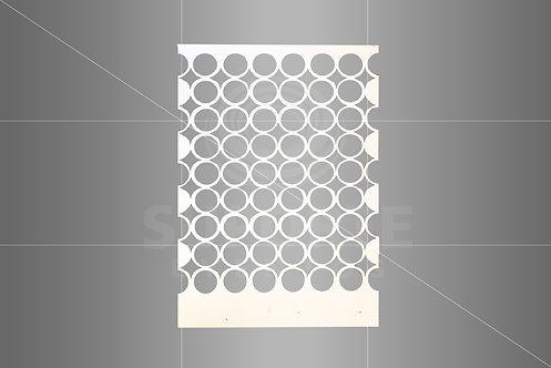 Divisória Geométrica Branca 2,41 alt. x 1,60 larg. (não fazemos a instalação)