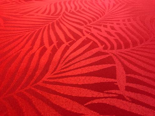 Toalha Jacquard Vermelha com 2,80 de diâmetro