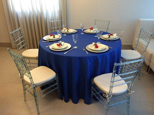 Toalha Oxford Azul Royal com Nervuras e 3,00 de Diâmetro