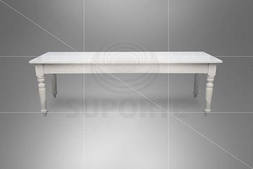 Mesa Branca CJ 2,50 x 1,00 x 0,78 alt.