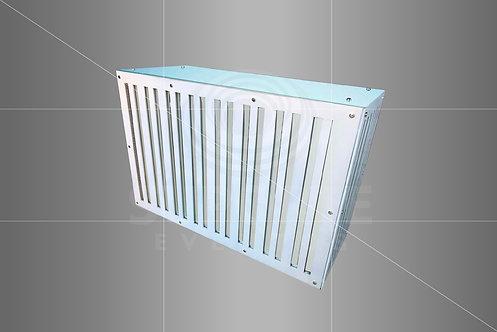 Balcão Espelhado Listrado LED c/ Prateleira de Apoio 1,50 x 1,00 x 0,60 larg.
