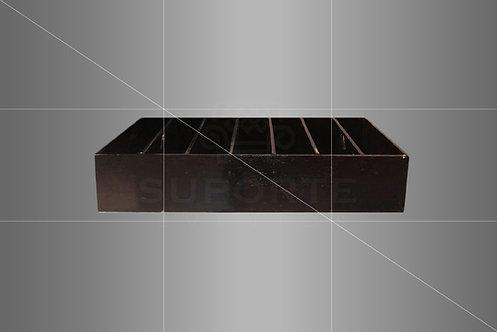 Caixa Organizadora Preta p/ Carrinho de Servir 0,53 larg. x 0,83 x 0,16 alt.