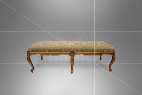 Puff Luis XV Dourado 1,50 x 0,55 x 0,45 (Assento Preto ou Bege)