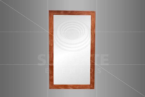 Espelho Madeira com Detalhe Dourado 2,00 x 1,10