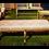 Thumbnail: Puff Luis XV Dourado 1,50 x 0,55 x 0,45 (Assento Preto ou Bege)